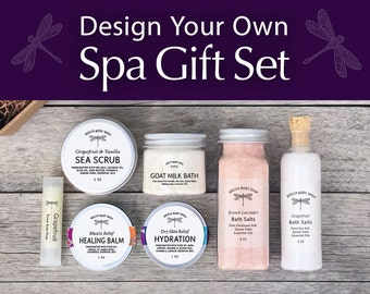 DESIGN YOUR OWN Spa Gift Set for Her for Him Custom Spa Gift Box Spa Gift