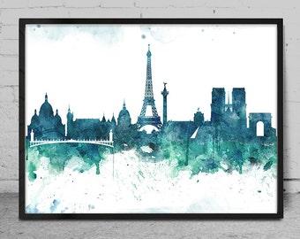 Watercolor Art print PARIS, Paris Art Print, Wall Art Print, Wall decor, Watercolor Painting, Watercolor Art Poster, Wall Art -x74