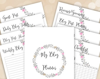 Blog Planning Kit - Blog Planner Printables - INSTANT DOWNLOAD