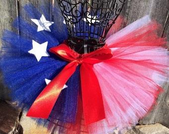 American Flag Inspired Handmade Tutu