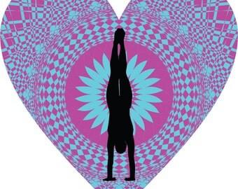 Heart Handstand Decal