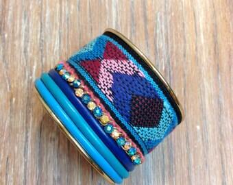 Aztec Textile Cuff