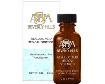Glycolic Acid Chemical Peel 25% 2oz - Pure, Unbuffered, Cruelty Free