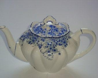 ON SALE Shelley England Dainty Blue Small Teapot