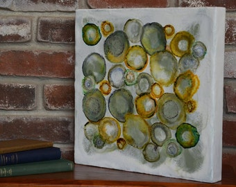 Thought Bubbles - Encaustic Painting - Encaustic Art