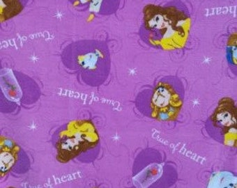 READY TO SHIP Beauty and the Beast Knotted Fleece Throw with Antipill Backing