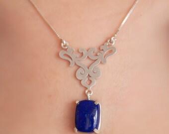 Eslimi Silver Necklace with Jade Pendant