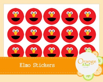 Elmo Stickers - Elmo Party Favor Stickers - Elmo Birthday Stickers