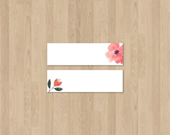 WEDDING PLACE CARDS floral theme - ready to download and print at home!
