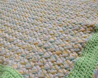 Zig Zag Puff Baby Blanket