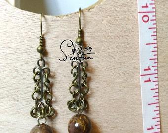 hand-made chain earrings