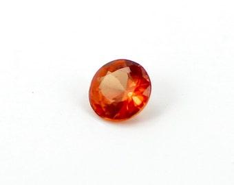 0.15 Ct 3mm Round Natural Loose Orange Sapphire Gemstone