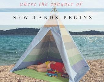 TEPEE - kids best indoor outdoor friend tent for nursery or kids room playhouse