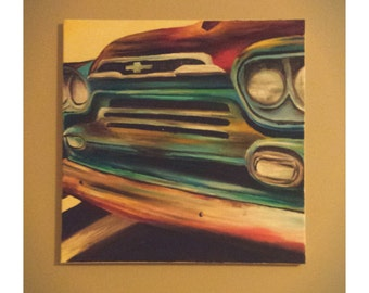 "Original ""Ford Truck"" oil painting by Sarah Strausbaugh"