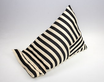 Black and Cream Striped Fabric  (Large) - Kindle - Ipad - Tablet -Mobile  Stand
