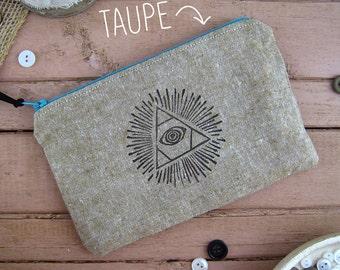 pencil pouch, purse organizer, zip pouch, cosmetic pouch, small pouch, pouch bag, cosmetic case, makeup pouch, travel pouch, boho chic