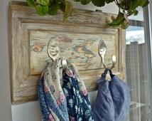 clothes rack, vintage, Decoration, Besteck,Perchero, vintage, madera, cubiertos, alpaca, colgador abrigos, Wooden rack, wooden hanger, Coat