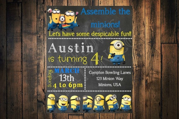 Printable minion invitation minion birthday invitation jpeg printable minion invitation minion birthday invitation jpeg invitation stopboris Image collections