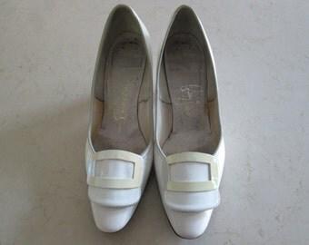 Vintage White Patent Shoes