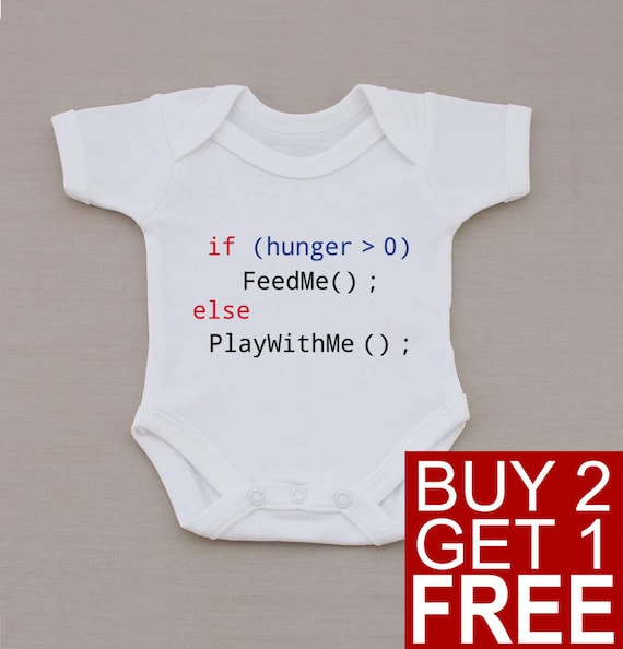 Baby programmer Bodysuit - Nerdy Baby One-piece Bodysuit - Funny Babygrows and other Humor Gifts at HaveSomeTeeShop