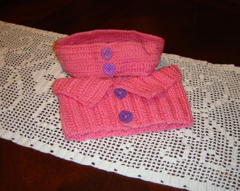 Pink Toddler Headband & Scarf