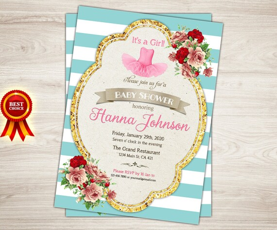 tutu baby shower invitation ballerina baby shower invitations pink