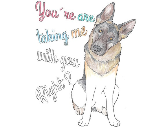 German Shepherd Coloring Page Dog Printable coloring page