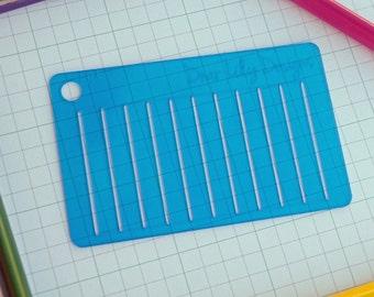 Lines, Planner Stencil, Bullet Journal Stencil - 501 (Credit Card Size Stencil)