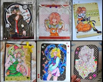 Anime HALFBODY Postcard Request