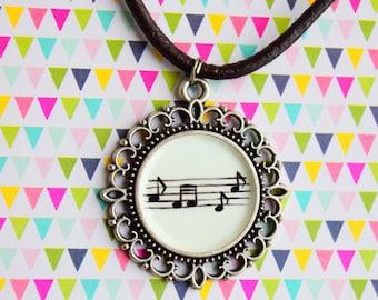Music note locket SALE - 50% off -
