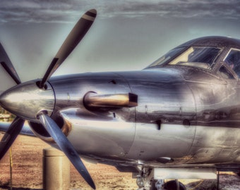 Pilatus Nose and Sky  - Airplane Photography, Aviation Art, Airplane Art, Pilot Gift, Aircraft Photography, Airplane Decor