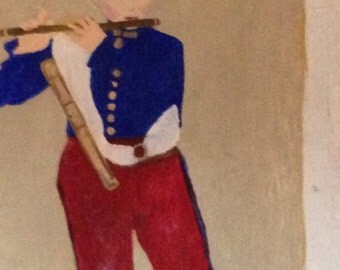 "Artist interpretation of Manet's ""Young Flautist"""