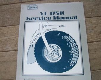 Vintage Yamaha 3 wheeler YT 175K service manual