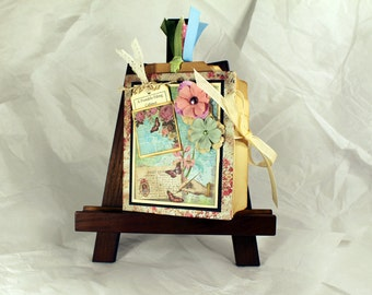 "Mini File Folder Book ""Portable Filing Cabinet"" - Spring Colors, Organizer, Mini Album"