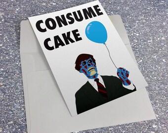 They Live Birthday Card John Carpenter