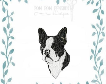 French Bulldog embroidery design in 9 formats instant download for the 4x4 (018)