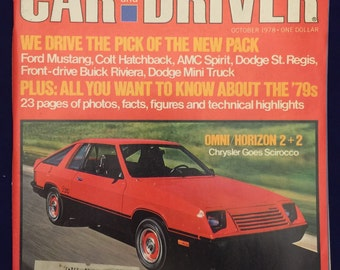 Car and Driver magazine October 1978