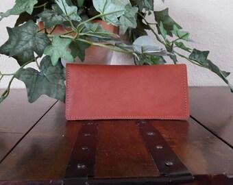 Wallet, Checkbook, Leather, Handmade