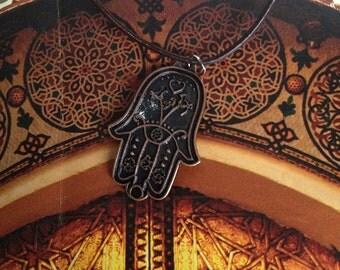 Bronze Hamsa necklace