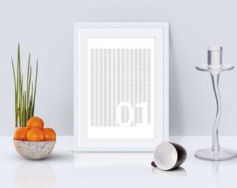 Binary Code Digital Print