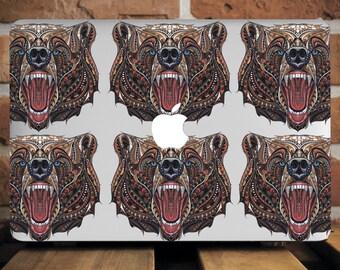 Angry Bear MacBook Case MacBook Air 13 Case Macbook 11 Inch Case MacBook Accessories MacBook 12 Mac Pro Cover Gift Macbook Animal WCm103