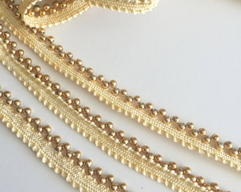 Gold Beaded Trim, embellishments, beads, sewing materials, accessories sewing notions, fabric trim, trims, cheap notions