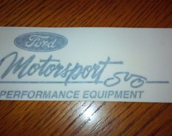 Ford Motorsports SVO Decal