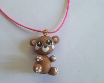 Necklace with Cute Little Bear Pendant