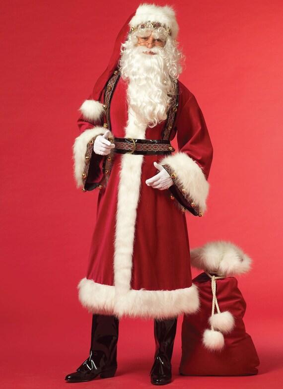 Sewing pattern for santa suit misses men s mr mrs claus