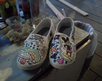 Hand Painted Mickey Mouse shoes