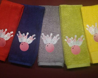 bowling Towels, Breast Cancer Ribbon