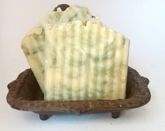 Juicy Pear Scented Soap Vegan Soap Natural Soap Hot Process soap Naturally Colored Soap Triple Butter