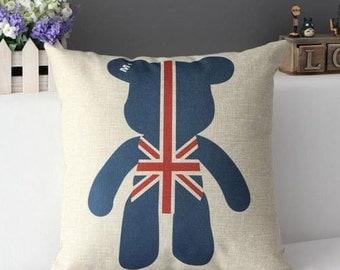 UK Bear Pillow case