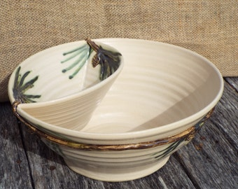 Pine Cone Chip and Dip Bowl
